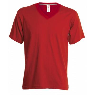 T-shirt V hals diverse kleuren
