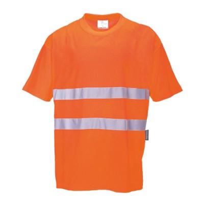 Comfort T-Shirt met reflecterende strepen
